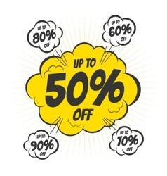 Discount bubble vector