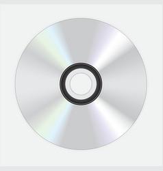 Silver dvd disc vector