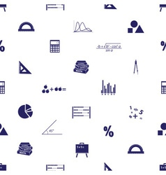 Mathematics icons seamless pattern eps10 vector