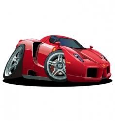 Cartoon sport car vector