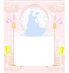 Invitation to the prom dance vector