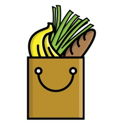 Grocery bag vector