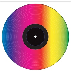 Colored vinyl disc vector