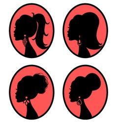 Elegant hairstyles vector