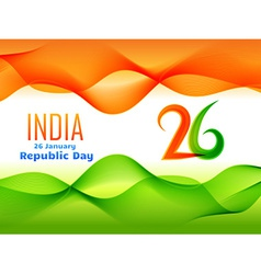 Indian republic day design made in wave style vector