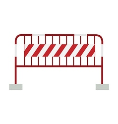 Red and white barrier vector