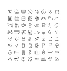 Travel tourism and weather icons vector