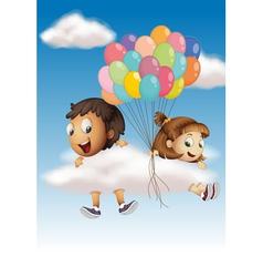 Kids in the sky vector