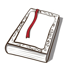 White old book icon hand drawn vector