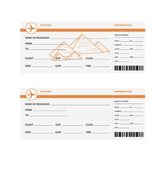 Plane tickets to egypt vector