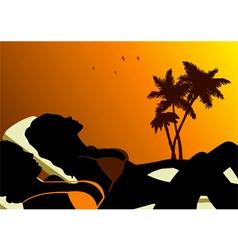 Sunbathing vector