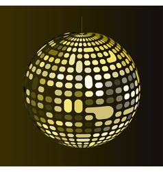 Retro disco ball vector