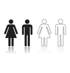 Restroom symbol vector