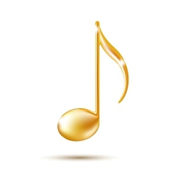 Golden music note sign vector