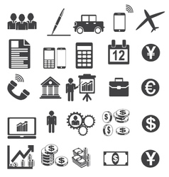 Business icons simplus serie vector