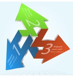 3d impossible arrows infographic element vector