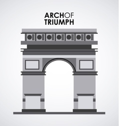 Arch of triumph vector