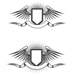 Heraldic emblems vector