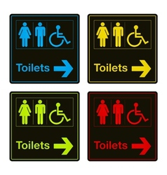 Toilet signs vector
