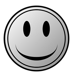 Smile face circle button vector