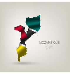 Flag of mozambique as a country vector