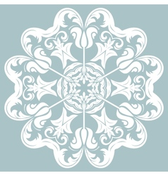 Orient abstract white pattern vector