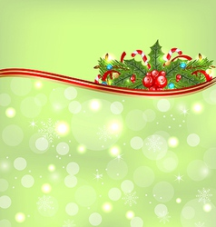 Christmas glowing background holiday decoration vector