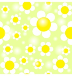 Field of daisies seamless pattern eps10 vector
