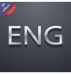 English icon symbol 3d style trendy modern design vector