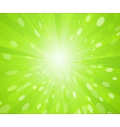 Green sunny rays background vector
