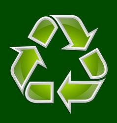 Recycle symbol icon vector