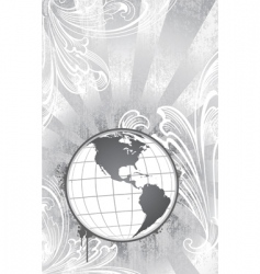 Etched globe vector
