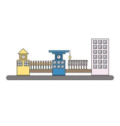 Isolated cartoon urban people life cycle factory vector