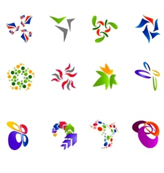12 colorful symbols set 15 vector