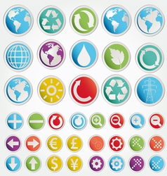 Set various forms symbols vector