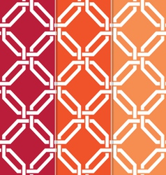3 seamless interlocked octagons vector