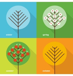 Four seasons icons vector