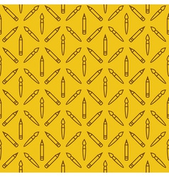 Linear art tools flat yellow seamless pattern vector
