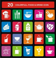 Colorfull food drink icon vector