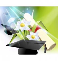 Happy graduation vector