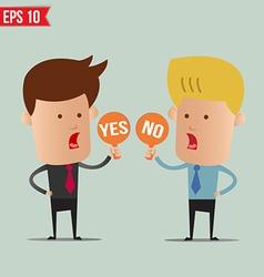 Business man show sign idea - - eps10 vector