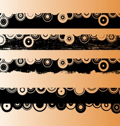 4 black grunge strips 2 vector