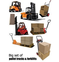 Packaging and forklift vector