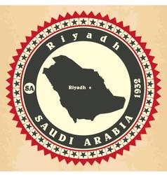 Vintage label-sticker cards of saudi arabia vector