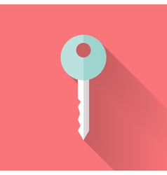 Flat key icon over pink vector