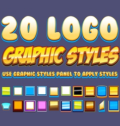 Comic graphic styles vector