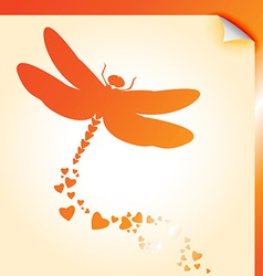 Dragongly decal orange vector