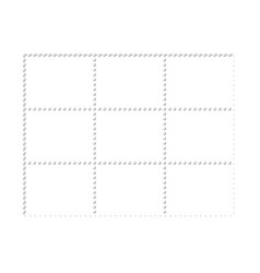 Mockup blank design six stamps block philately vector