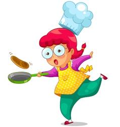 Cooking girl vector
