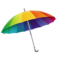 Umbrella in rainbow colors vector